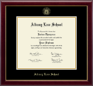 Albany Law School Gold Embossed Diploma Frame in Gallery