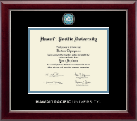 Hawaii Pacific University Masterpiece Medallion Diploma Frame in Gallery Silver
