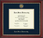 Masterpiece Medallion Diploma Frame in Kensington Gold