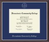 Housatonic Community College Silver Embossed Diploma Frame in Devon