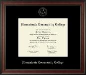 Housatonic Community College Silver Embossed Diploma Frame in Studio