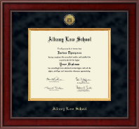 Albany Law School Presidential Gold Engraved Diploma Frame in Jefferson