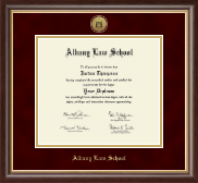 Albany Law School Gold Engraved Medallion Diploma Frame in Hampshire