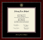 Albany Law School Gold Embossed Diploma Frame in Sutton