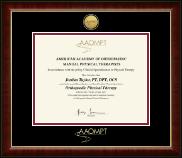 Gold Engraved Medallion Certificate Frame in Murano
