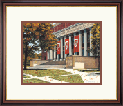 Framed Lithograph of Widener Library in Lancaster