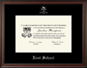 Kent School in Connecticut Silver Embossed Diploma Frame in Studio