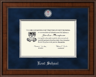 Kent School in Connecticut Presidential Masterpiece Diploma Frame in Madison