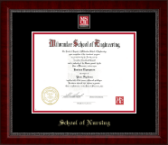 MSOE Nursing Masterpiece Medallion Diploma Frame in Sutton
