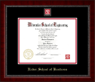 MSOE Business Masterpiece Medallion Diploma Frame in Sutton