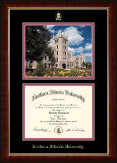 Campus Scene Diploma Frame in Murano