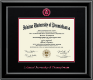 Dimensions Diploma Frame in Onyx Silver