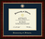 Brass Masterpiece Medallion Diploma Frame in Murano