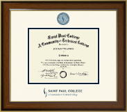 Saint Paul College Dimensions Diploma Frame in Westwood