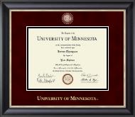 Masterpiece Medallion Diploma Frame in Noir