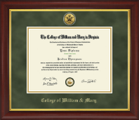 Gold Engraved Medallion Diploma Frame in Redding