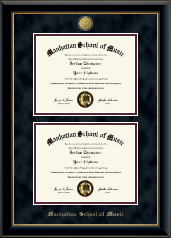 23K Double Diploma Frame in Onyx Gold