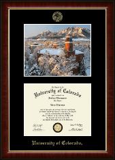 "Campus Scene ""Winter Photo"" Diploma Frame in Murano"