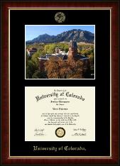 "Campus Scene ""Fall Photo"" Diploma Frame in Murano"