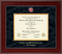 California State University Northridge Presidential Masterpiece Diploma Frame in Jefferson
