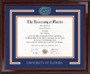 Gator Diploma Frame in Encore