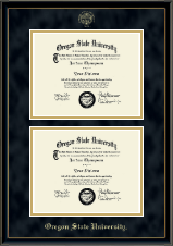 Double Diploma Frame in Onexa Gold