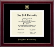 Bay Path University Gold Embossed Diploma Frame in Gallery