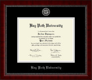 Bay Path University Silver Embossed Diploma Frame in Sutton