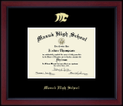 Gold Embossed Diploma Frame in Academy