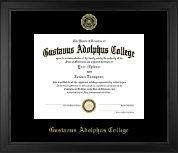 Gold Embossed Achievement Edition Diploma Frame in Arena
