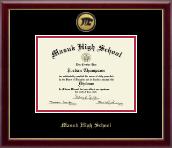 Gold Engraved Medallion Diploma Frame in Galleria