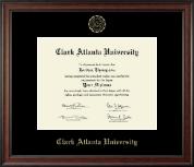 Clark Atlanta University Gold Embossed Diploma Frame in Studio