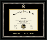 Masterpiece Medallion Diploma Frame in Noir