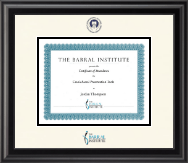 Dimensions Certificate Frame in Midnight