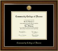 Gold Engraved Medallion Diploma Frame in Westwood