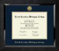 Gold Engraved Medallion Diploma Frame in Eclipse