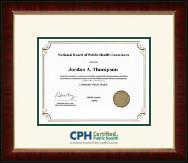 Dimensions Certificate Frame in Murano