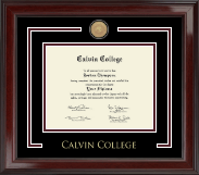Calvin College Showcase Edition Diploma Frame in Encore
