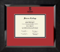 Black Embossed Diploma Frame in Eclipse