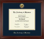 Gold Engraved Medallion Diploma Frame in Sierra