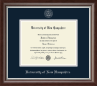 University of New Hampshire at Manchester Silver Embossed Diploma Frame in Devonshire