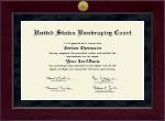 Millennium Gold Engraved Certificate Frame in Cordova