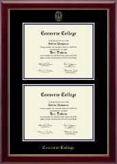 Converse College Double Diploma Frame in Gallery