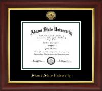 Adams State University  Gold Engraved Medallion Diploma Frame in Redding