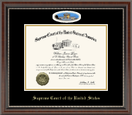 Campus Cameo Certificate Frame in Chateau