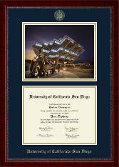 Campus Scene Diploma Frame in Sutton