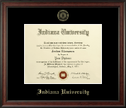Indiana University Southeast Gold Embossed Diploma Frame in Studio