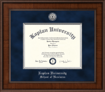 Presidential Silver Engraved Diploma Frame in Madison