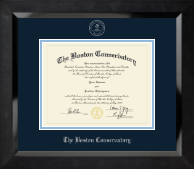 Silver Embossed Diploma Frame in Eclipse
