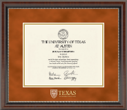 Shield Masterpiece Medallion Diploma Frame in Chateau